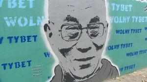 Tybetański protest w dniu wizyty premiera Chin