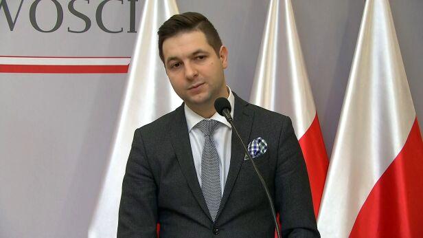 Wiceminister sprawiedliwości Patryk Jaki TVN24
