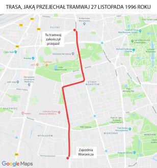 Trasa tramwaju Google