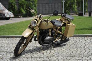 Zdobyczny motocykl trafił do Muzeum Powstania