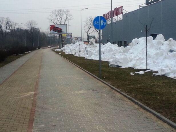 Część ścieżek zostanie odśnieżonych facebook.pl