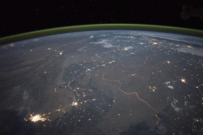 Granica indyjsko-pakistańska w nocy