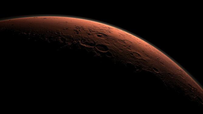 Komputerowo wygenerowane zdjęcie części Marsa (NASA)