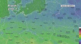Prognozowana temperatura w nadchodzących dniach (Ventusky.com)
