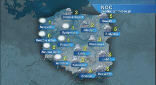 Prognoza pogody na noc 10.11/11.11