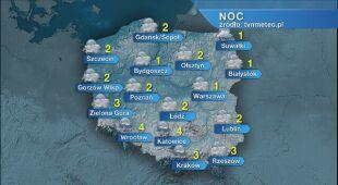 Prognoza pogody na noc 22/23.04